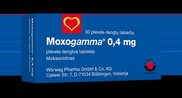 hipertenzijos gydymas moksonidinas